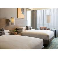 Quality Contemporary Bedroom Furniture Double Twin Size , Durable Commercial Hotel Furniture wholesale