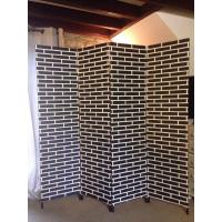 Double Paper Rope Decorative Wooden Room Divider Screens Partition Wall