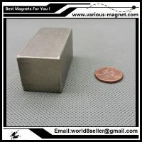Buy cheap SmCo Magnet Block 50x25x25 mm YXG26, 350degree C High Temperature Mortor Magnet from wholesalers