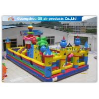 China Outside Inflatable Amusement Theme Parks With Bounce House Waterproof PVC factory