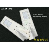 Buy cheap Bridgelux Chip 30pcs Outdoor Solar Street Lights / 120W LED Road Lamp from Wholesalers