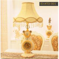 China European style luxurious ceramic lamp with clock ID:#TD-001 on sale