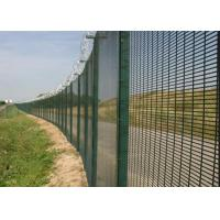 Buy cheap Black Low Carbon 358 Security Fence 72.6 * 12.7mm Anti Climb Fence from Wholesalers