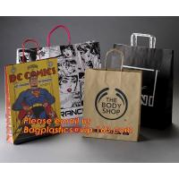 China Luxury matte black shopping paper bag with logo UV for clothing packaging factory