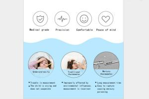 China Battery Operated Non Contact Digital Thermometer For Baby Automatic Power Off factory