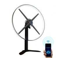 China 52cm Hologram Fan Display , Acrylic Cover Led 3d Holographic Projector factory