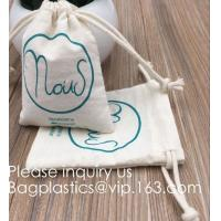 China Drawstring Bags Reusable Muslin Cloth Gift Candy Favor Bag Jewelry Pouches for Wedding DIY Craft Soaps Herbs Tea Spice B factory
