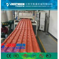 China Hot popular pvc plastic roofing sheet extrusion machine/glazed tile equipment extrusion line factory
