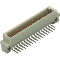 Buy cheap 2.54mm Pitch Din 41612 Connector Male 90° DIP  B Type PBT+30% G.F Brass from Wholesalers