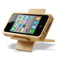 China Handmade Bamboo Case With Stand factory