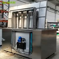 Buy cheap Automatic Ultrasonic Cleaner with Hydraulic Lift PLC Controlled for Wheel Rim Cleaning from Wholesalers