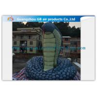 China Giant Inflatable Cartoon Characters Snake Model With Silk Print , Hand Painting factory