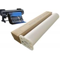 Buy cheap 220gsm Inkjet stretched polyester canvas roll 24'' 60'' for printer plotter from Wholesalers