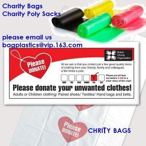 China charity shop collection bag, Plastic donation bags, charity sacks, green sacks, yellow bag factory