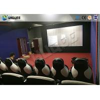 China Park 9D Cinema Seat With Electric / Pneumatic System Round Screen factory