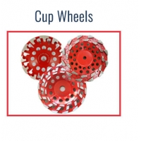 Diamond cup grinding wheels for concrete