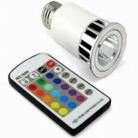 China Energy saving Aluminum Alloy 5w 220v fade RGB LED gu10 colored spotlight on sale