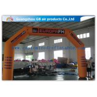 China Orange Custom Inflatable Race Arch , Inflatable Archway 420D Oxford Cloth Material factory