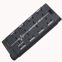 China 8 gang UK british power extension lead socket with Telephone fax surge protection CE factory