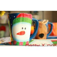 Christmas Deer Mug, Ceramic Handpaint Gift
