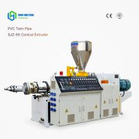 Buy cheap SINO-HS CE ISO SJZ-65/132CONICAL TWIN SCREW EXTRUDING MACHINE, for  Twin PVc Pipe from Wholesalers