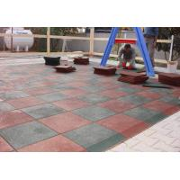 China Customized Playground Surface Tiles 1000x1000x(15-50)Mm Safety Large Size factory