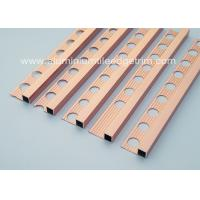 Buy cheap Good Durable 10mm Metal Square Edge Tile Trim For Counter Top Or Window Sill from Wholesalers