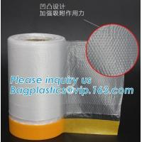 China self adhesive auto painting pre-taped masking film auto paint shelding function taped masking film, mold plastic auto on sale