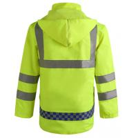 China Hoody Raincoat with Reflective Tape Cheap Workwear for Rain Day factory