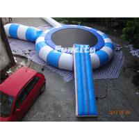 Buy cheap 0.9MM Thickness PVC Tarpaulin Different Color Inflatable Water Trampoline from Wholesalers