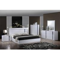 Buy cheap King Size High Gloss Bedroom Furniture Set Lacquer Painting With White / Blue Color from Wholesalers