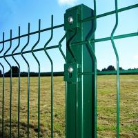 Buy cheap Folding Curved PVC Coated Steel Wire Fencing, Heavy Gauge Wire Fence Panels For School from Wholesalers