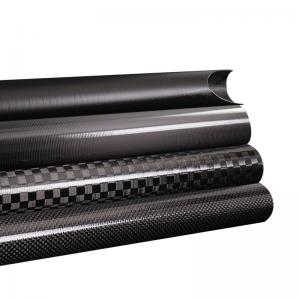 China Triangle Epoxy Resin OEM / ODM Carbon Fiber Piping factory