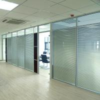 China Wall Curtain / Office Aluminium Glass Office Partition , Aluminum Wall Partition factory