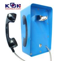 Buy cheap Metal Weatherproof Public Telephones Wall Mounted Handset Free CE FCC from Wholesalers