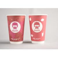 Buy cheap Red Custom Printed Disposable Coffee Cups To Go For Office / Home from Wholesalers