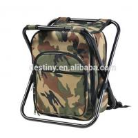 Camouflage high quality shoulder picnic cooler chair backpack