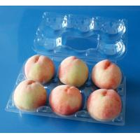 Buy cheap PET PVC Disposable Plastic packaging tray for Apple Pear Peach 6pcs from Wholesalers