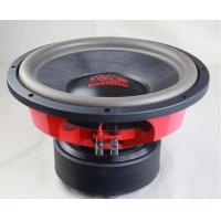 China Black And Red Loudest High End Car Subwoofers / High End Stereo Speakers With Eva Gasket on sale