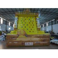 China Egypt Tower Tour Inflatable Rock Climbing Wall Waterproof Fireproof PVC 5 X 4 X 6m on sale