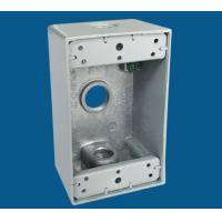 China 3 Outlet Holes Waterproof Electrical Box / Outdoor Electrical Outlet Box factory
