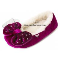 Quality Luxury slippers/ luxury ladies slippers/bow women slippers wholesale