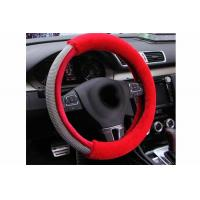 Buy cheap Luxury Design Bling Bling Steering Wheel Cover With Durable Red Fur Material from wholesalers