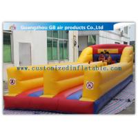 China Outdoor Kids Match Inflatable Sports Games , Inflatable Bungee Run with Two Lines factory