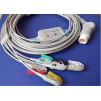Philips 12 Pin 5 Lead Ecg Cable One Piece Type Double Shield Structures