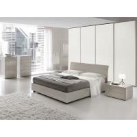 Buy cheap European High Gloss Bedroom Furniture With Khaki Storage Bedroom Set from Wholesalers