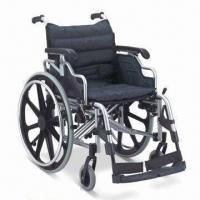 China Wheelchair with Aluminum Chair Frame, Flip-up and Height-adjusted Desk Armrest, CE/FDA-approved factory