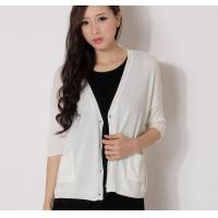 Buy Short Thin Womens Cardigan Sweaters With Buttons Sequin Yarn ...