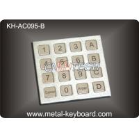 Dust Proof Stainless Steel Keyboard IP 65 Access Control Keypad with 16 Keys