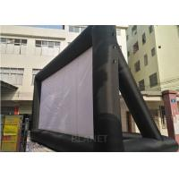 China Large Black And White Inflatable Movie Screen Customized Size / Material factory